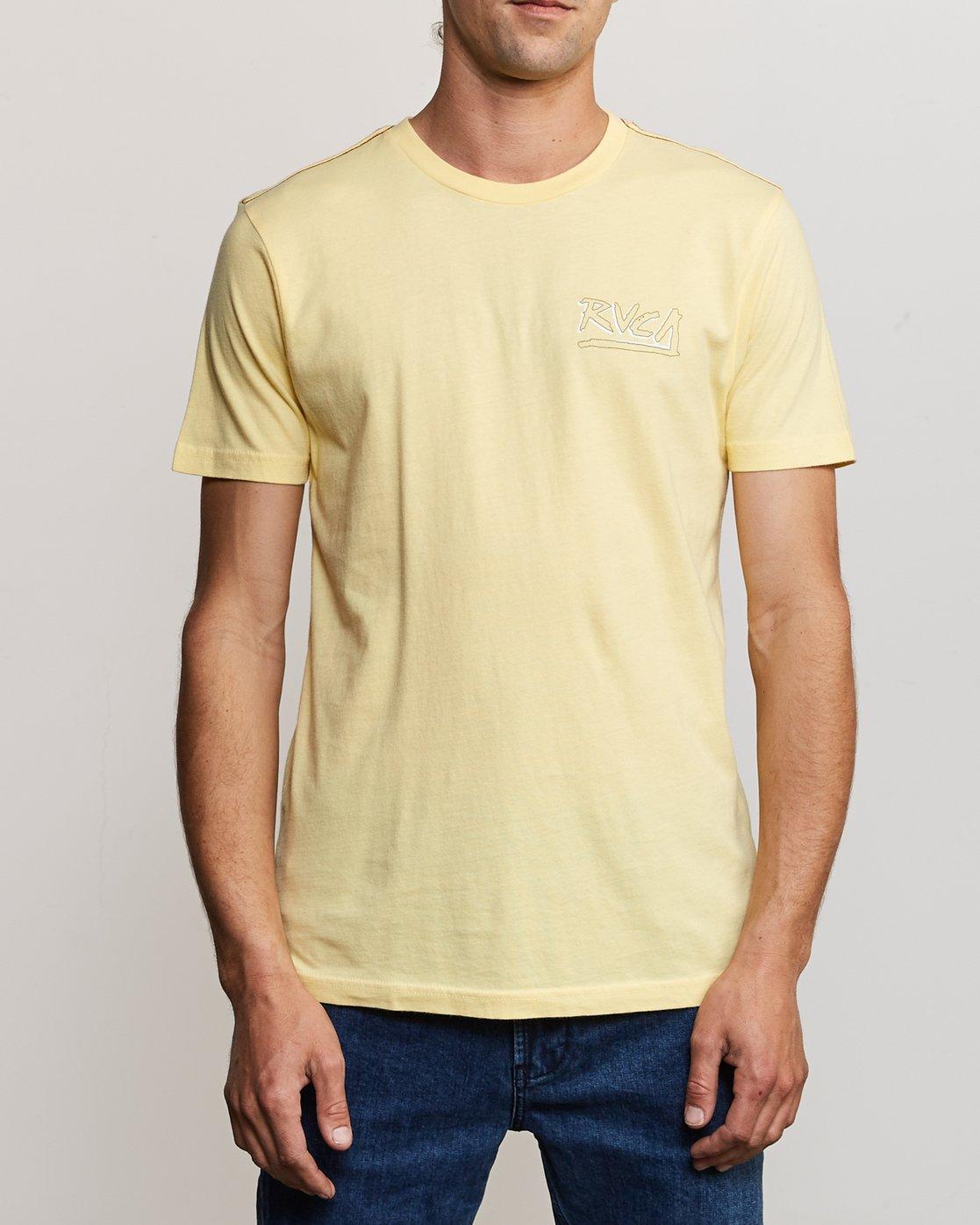 2 Offset T-Shirt Yellow M430UROF RVCA