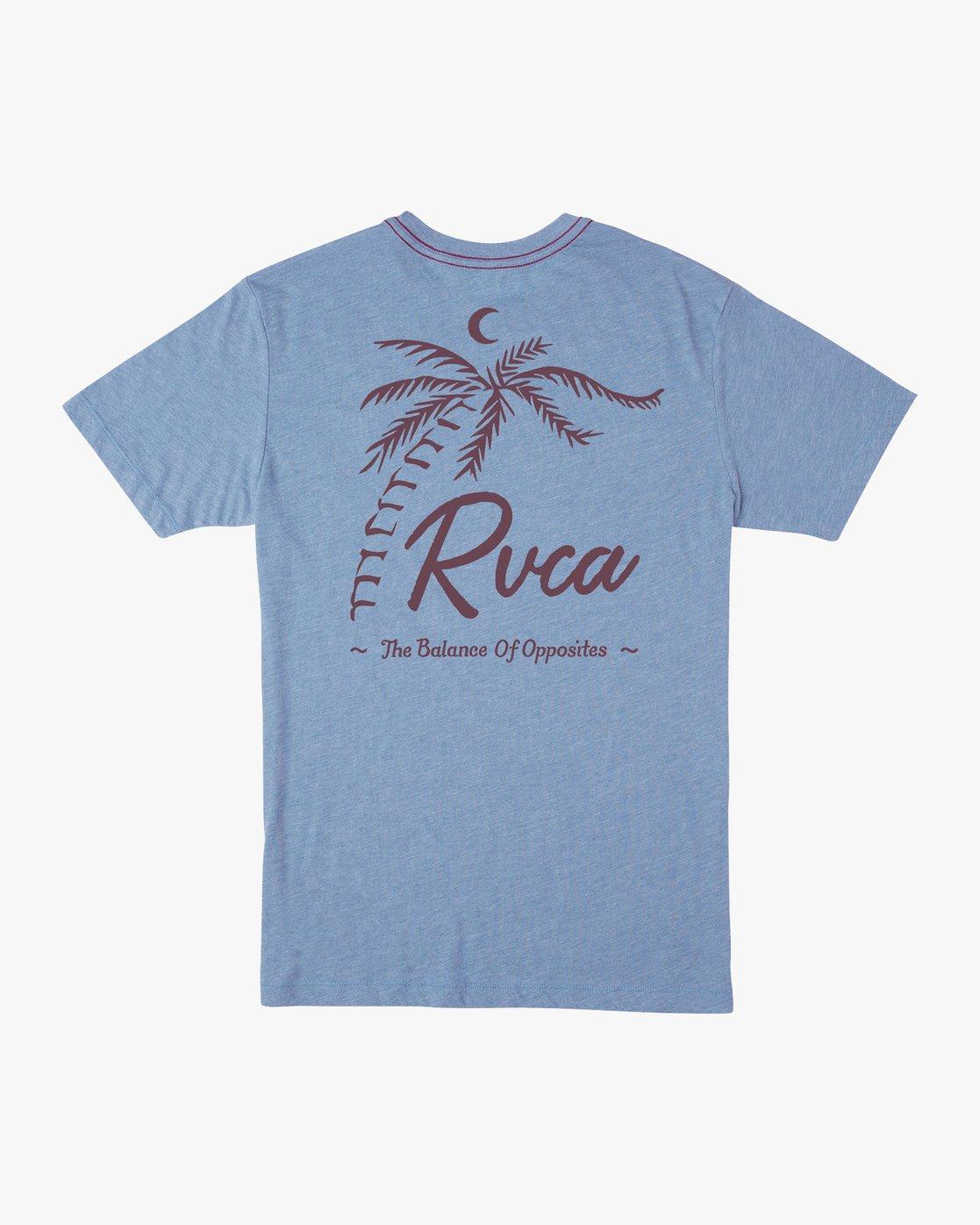 0 Mowgli Tropicale T-Shirt Blue M430URTR RVCA