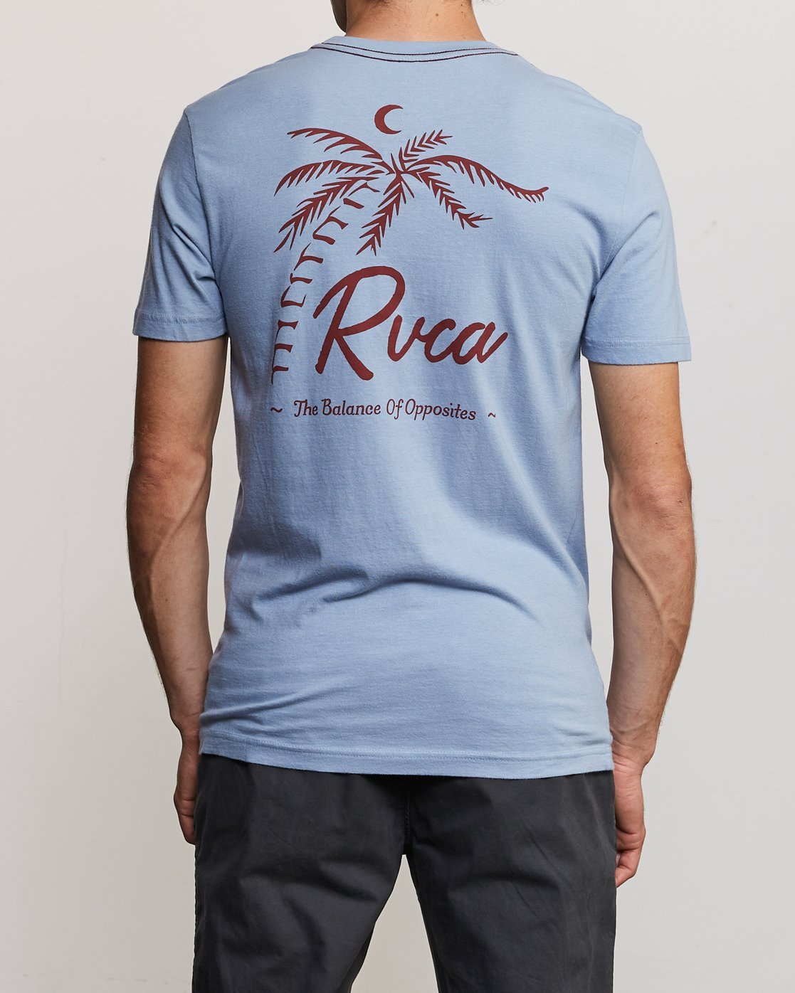 4 Mowgli Tropicale T-Shirt Blue M430URTR RVCA