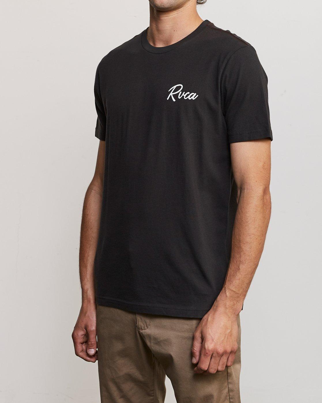 3 Mowgli Tropicale T-Shirt Black M430URTR RVCA