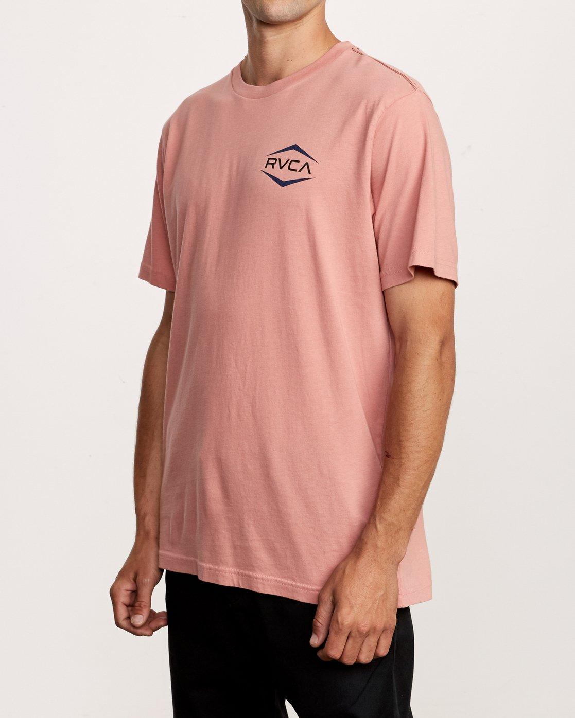 2 Astro Hex T-Shirt Pink M430VRAS RVCA