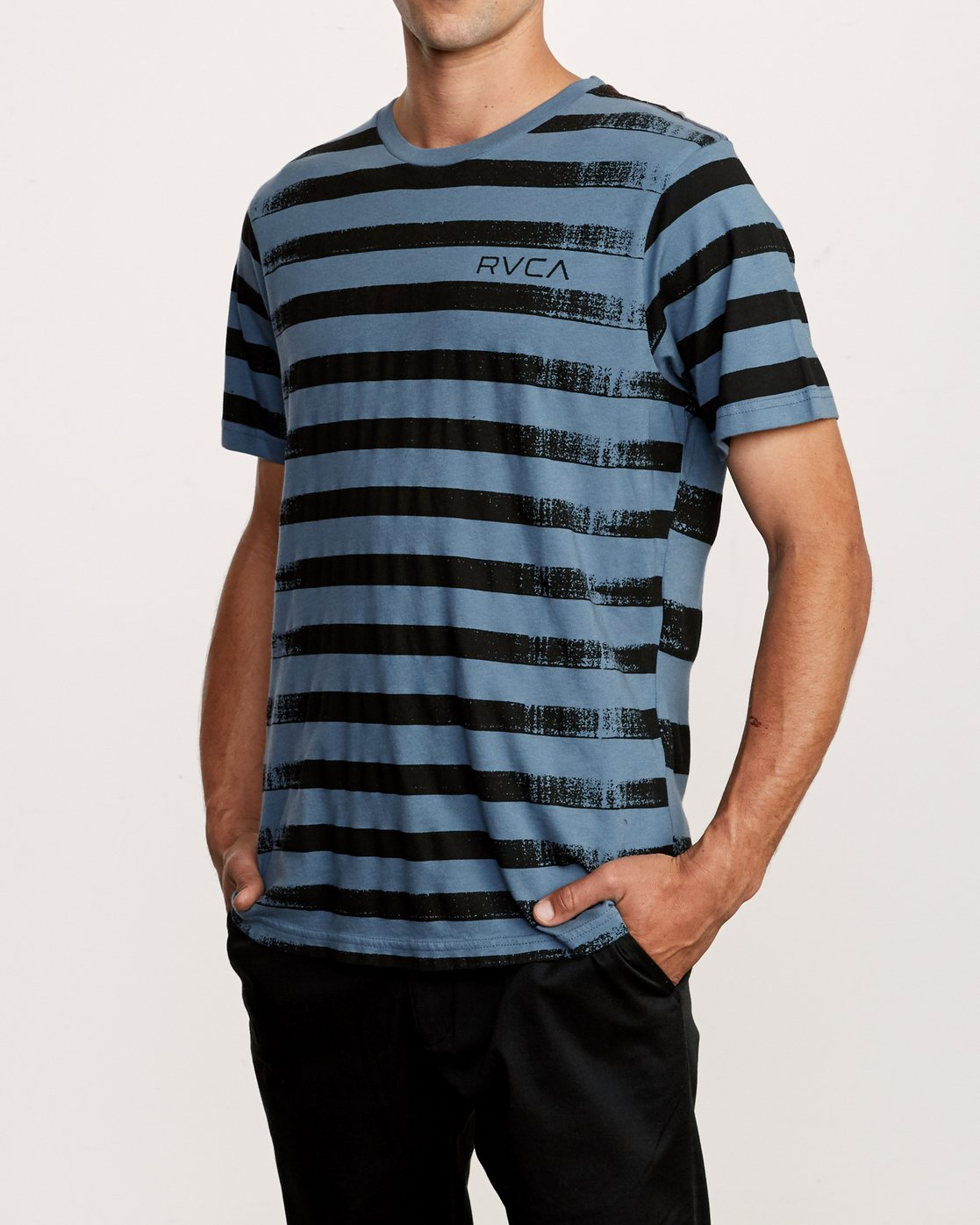 2 Copy Stripe T-Shirt Red M430VRCS RVCA