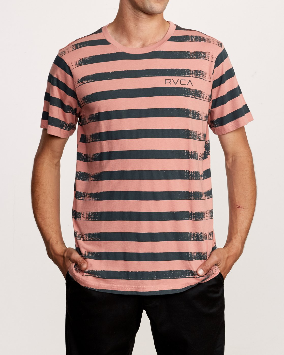 1 Copy Stripe T-Shirt Pink M430VRCS RVCA