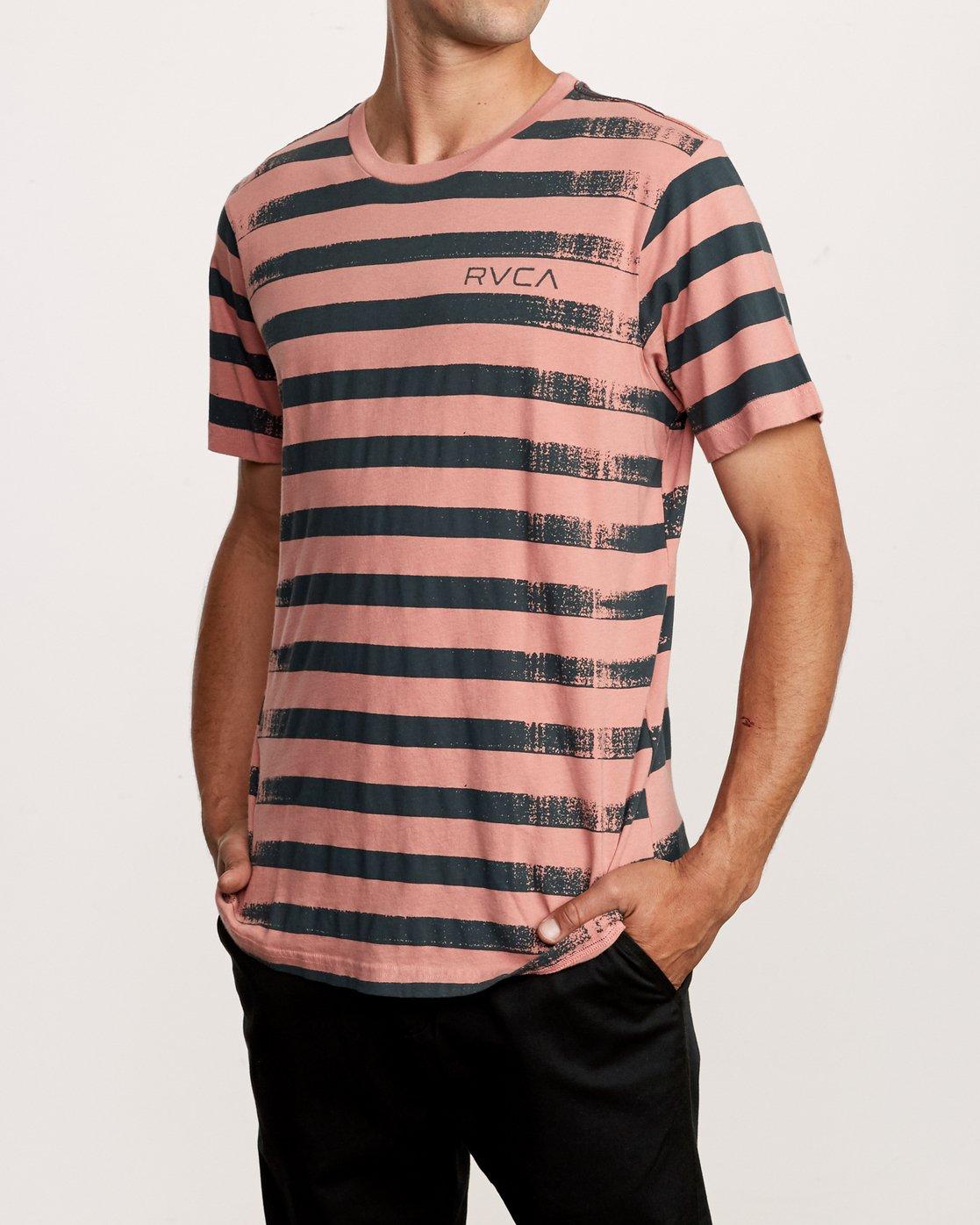 2 Copy Stripe T-Shirt Pink M430VRCS RVCA