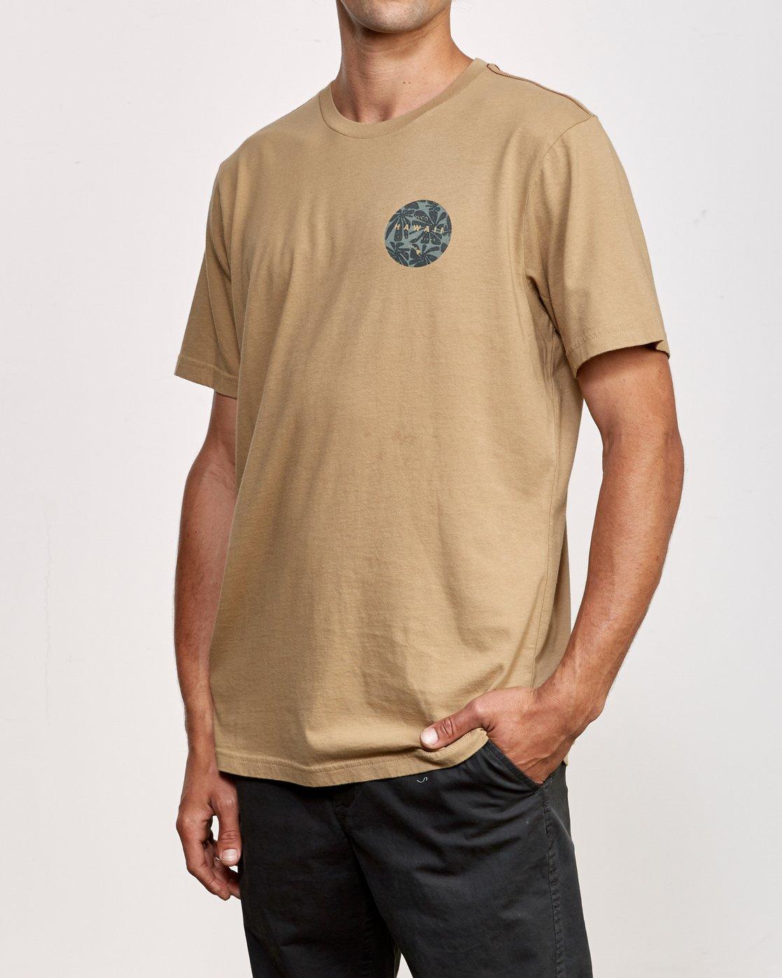 3 Da Aina T-Shirt Yellow M430VRDA RVCA