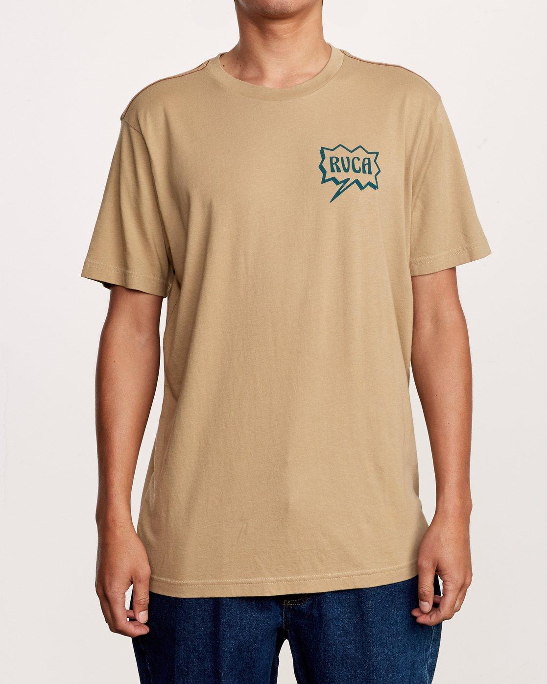 2 Explosive T-Shirt Yellow M430VREX RVCA