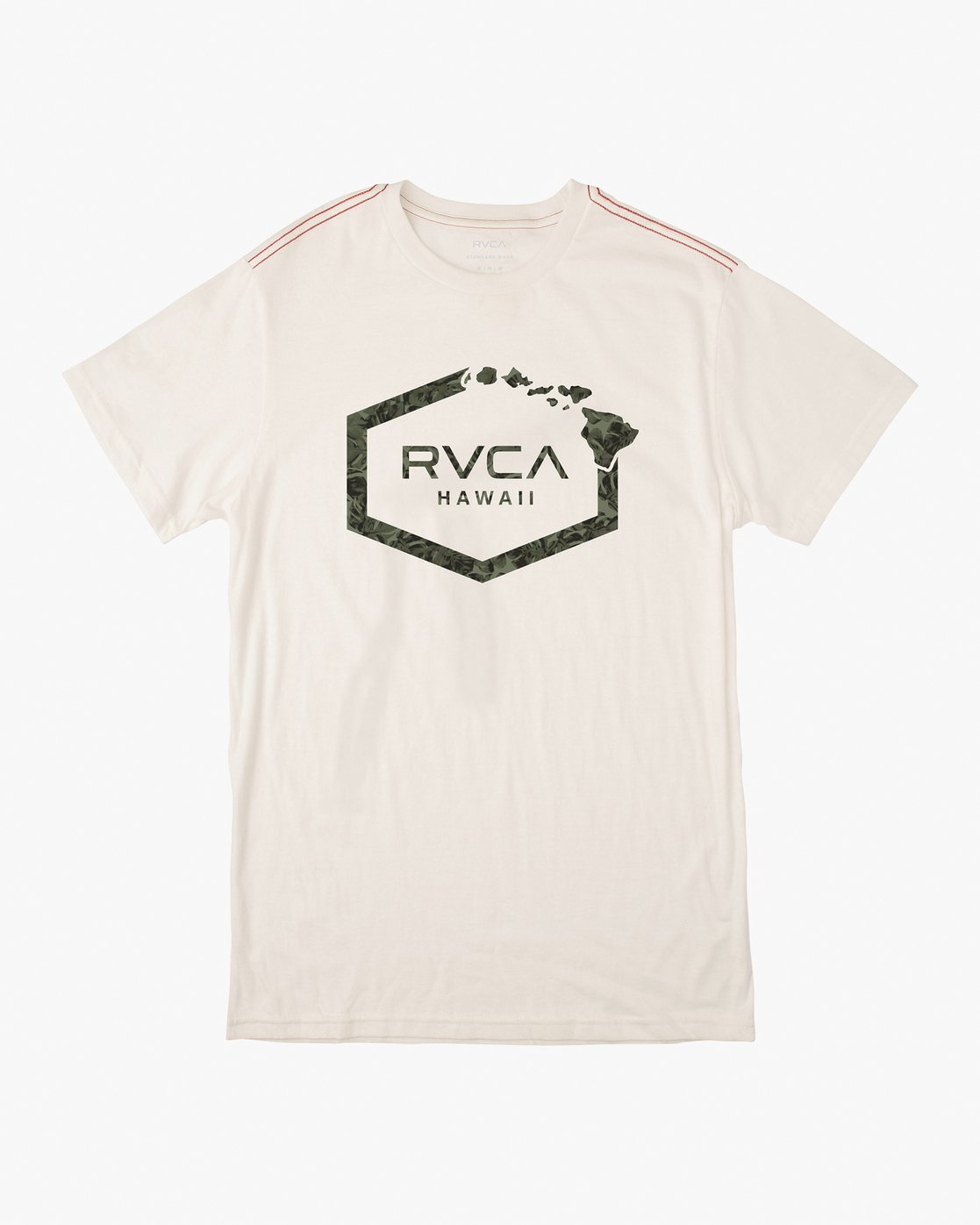 0 Island Hex T-Shirt White M430VRIS RVCA