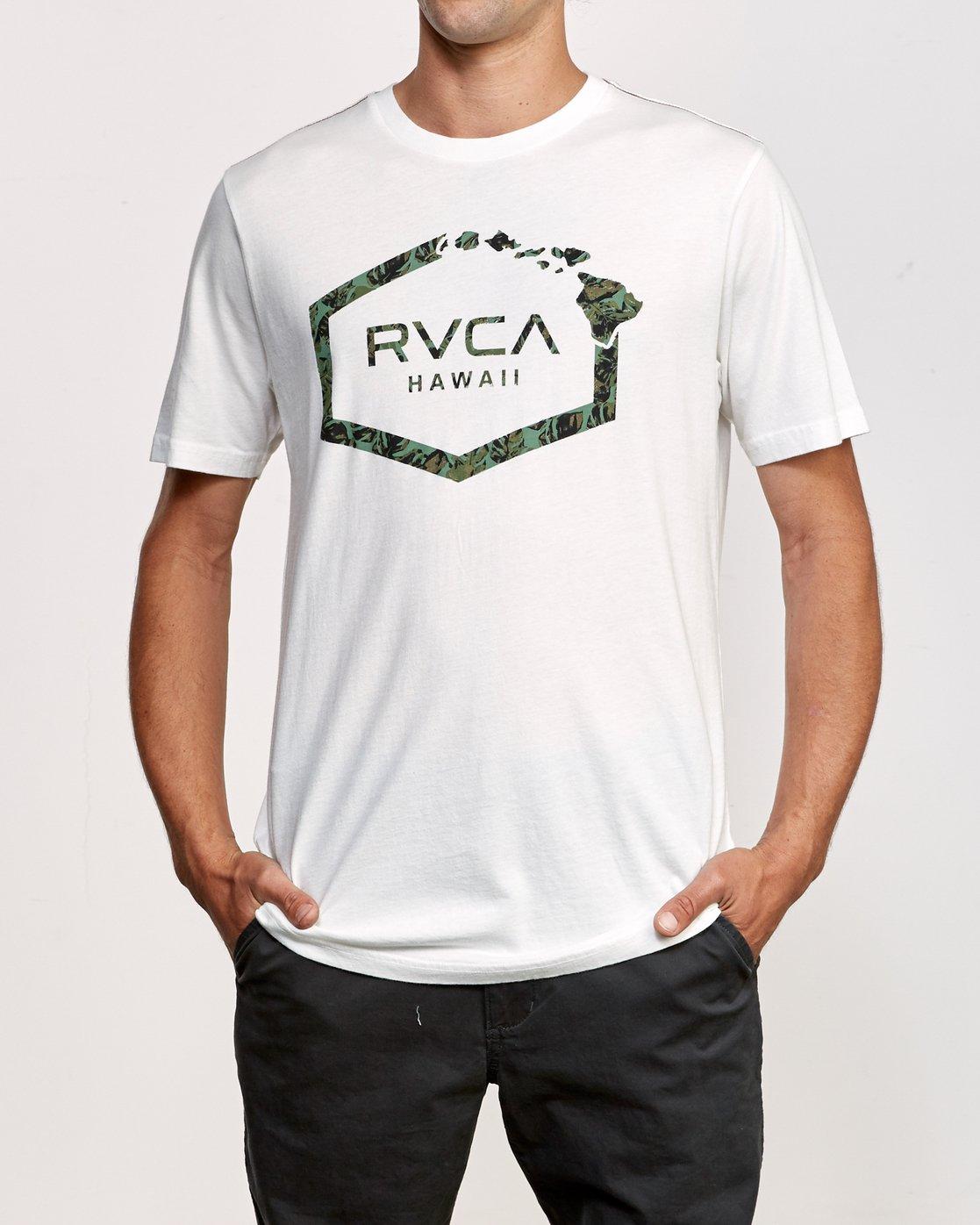 1 Island Hex T-Shirt White M430VRIS RVCA