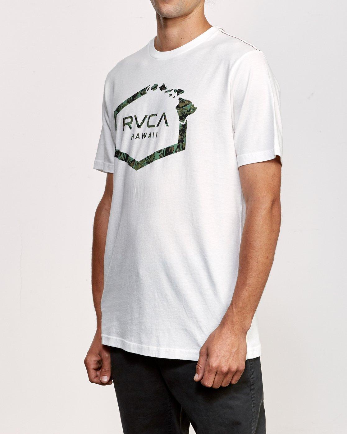 2 Island Hex T-Shirt White M430VRIS RVCA