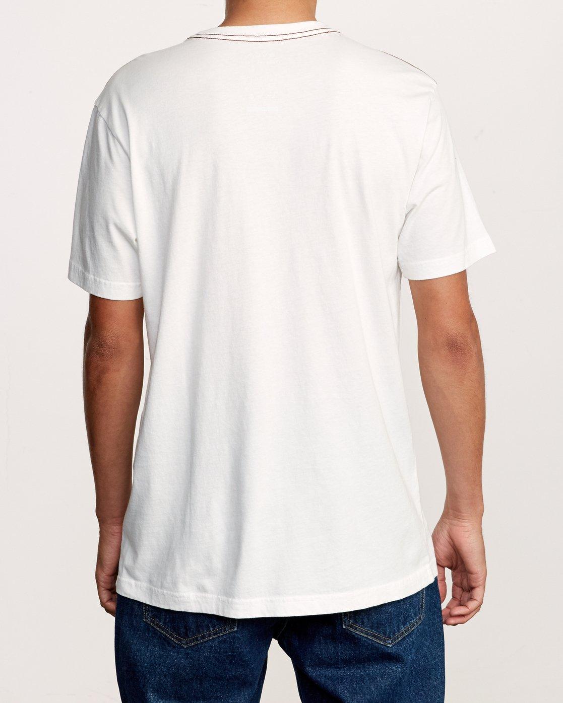 3 Beercroft Polinate T-Shirt White M430VRPO RVCA