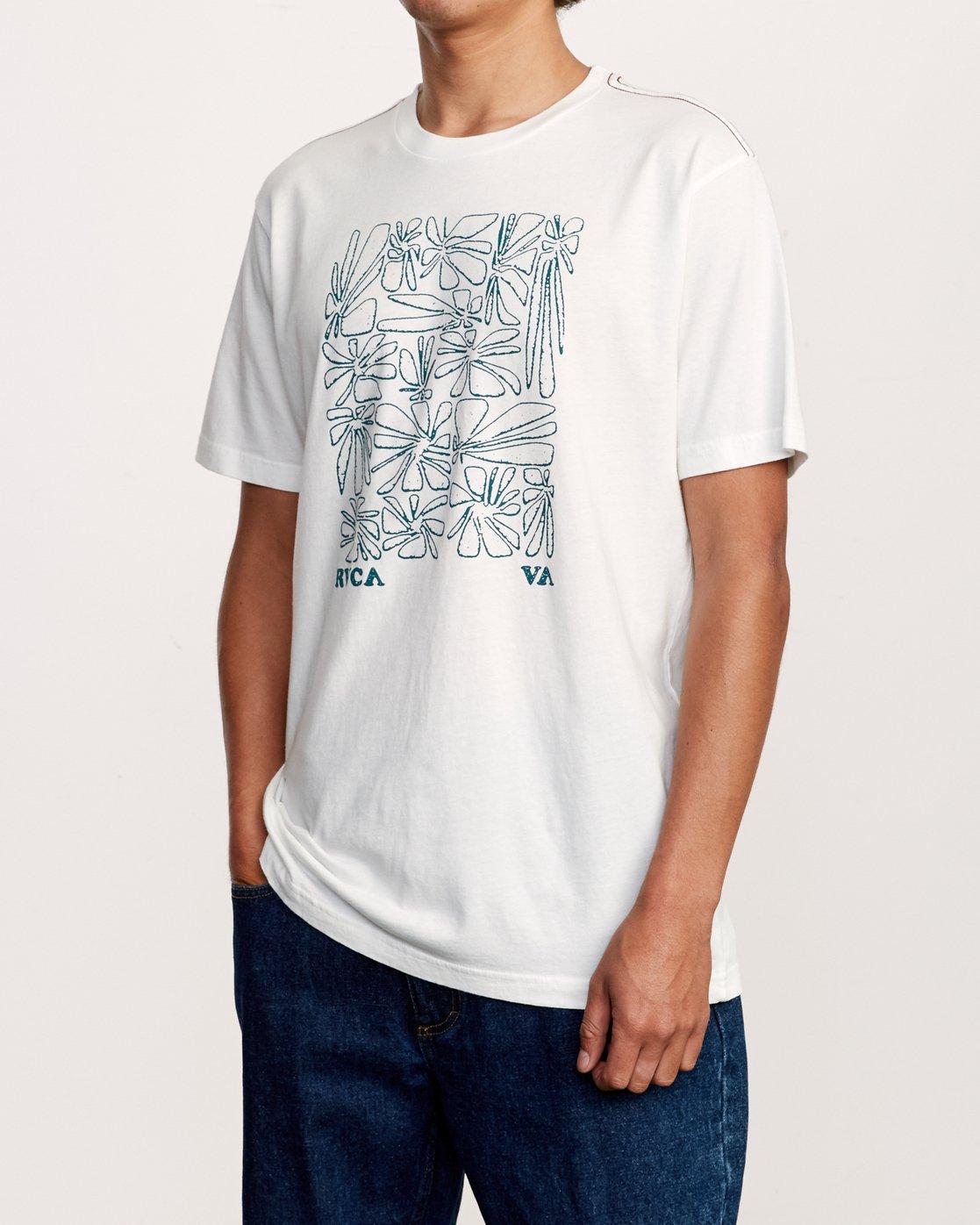 2 Beercroft Polinate T-Shirt White M430VRPO RVCA