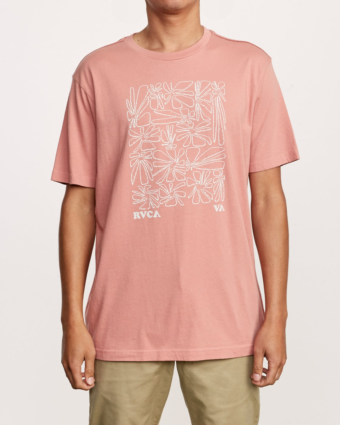 1 Beercroft Polinate T-Shirt Pink M430VRPO RVCA