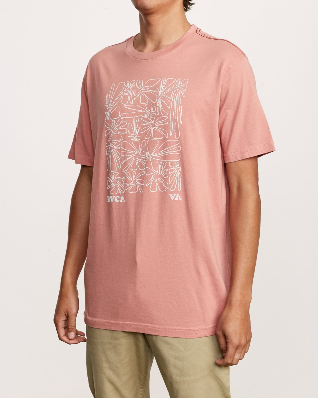 2 Beercroft Polinate T-Shirt Pink M430VRPO RVCA