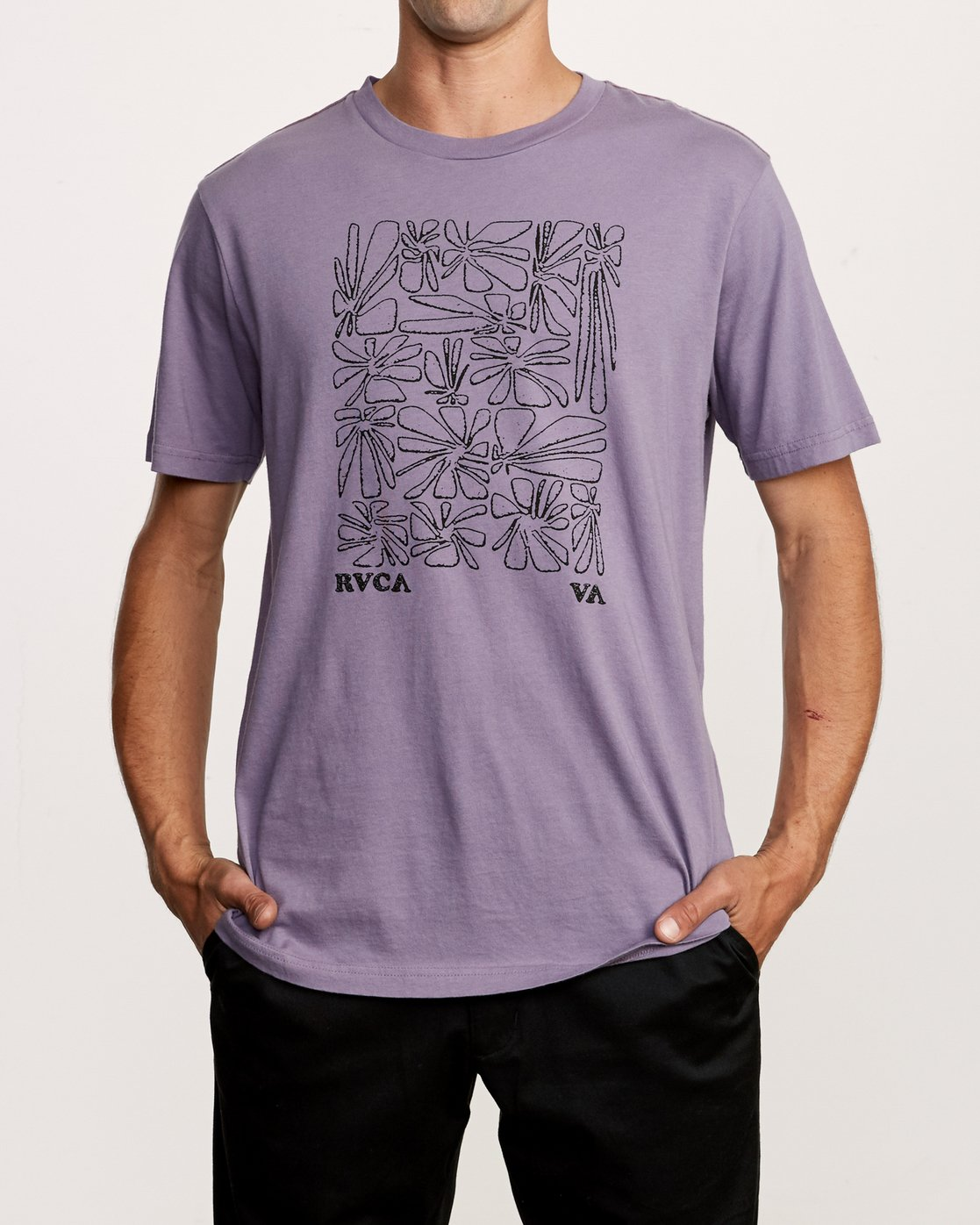 1 Beercroft Polinate T-Shirt Purple M430VRPO RVCA