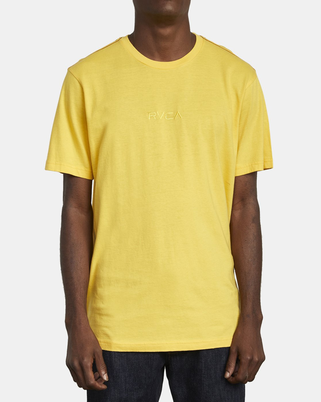 1 SMALL RVCA T-SHIRT Yellow M430VRSM RVCA