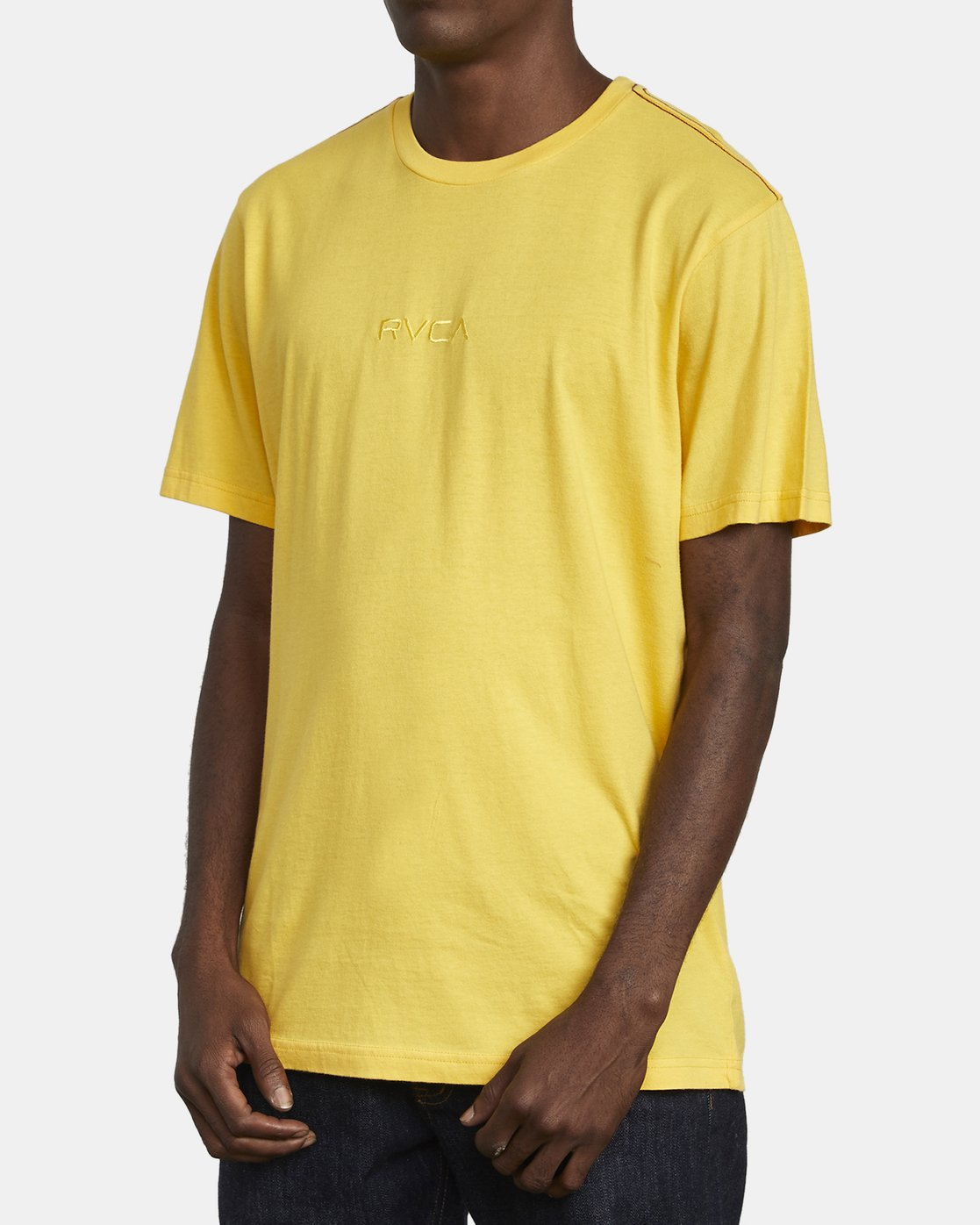 3 SMALL RVCA T-SHIRT Yellow M430VRSM RVCA