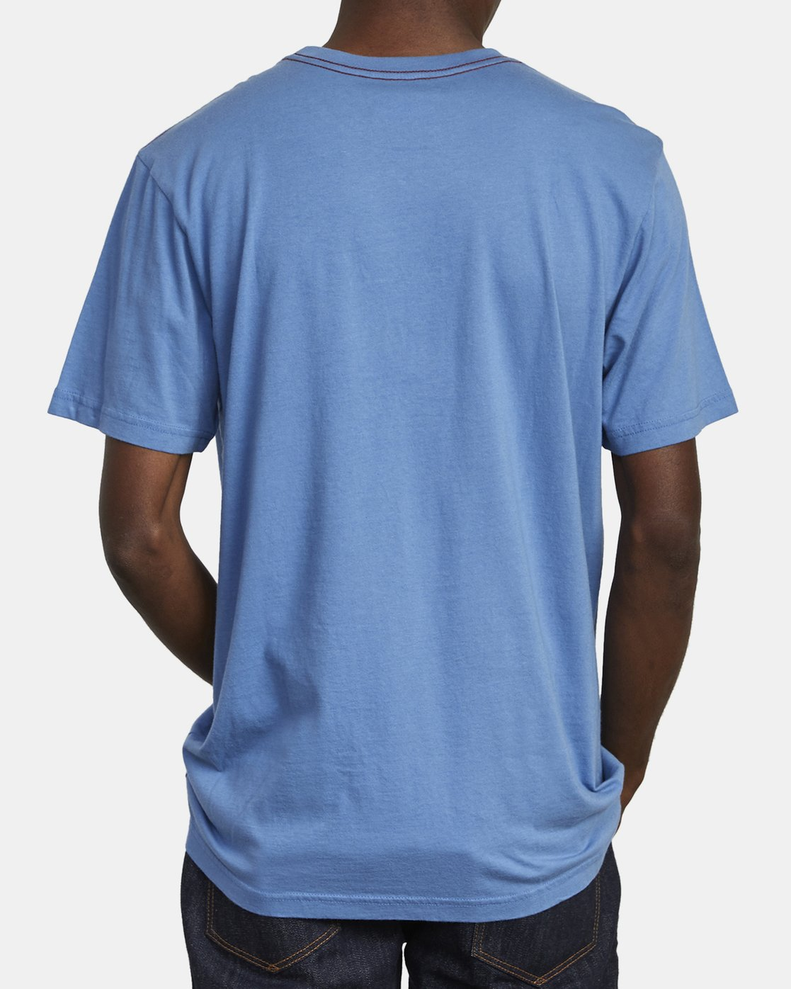 5 SMALL RVCA T-SHIRT Blue M430VRSM RVCA