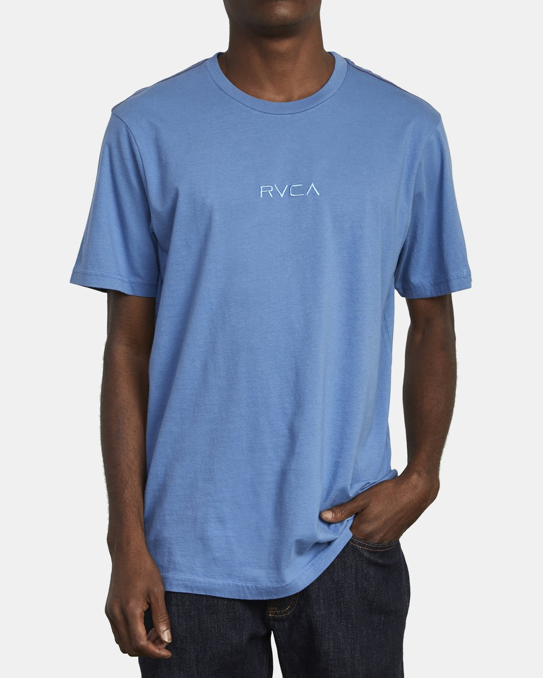 2 SMALL RVCA T-SHIRT Blue M430VRSM RVCA