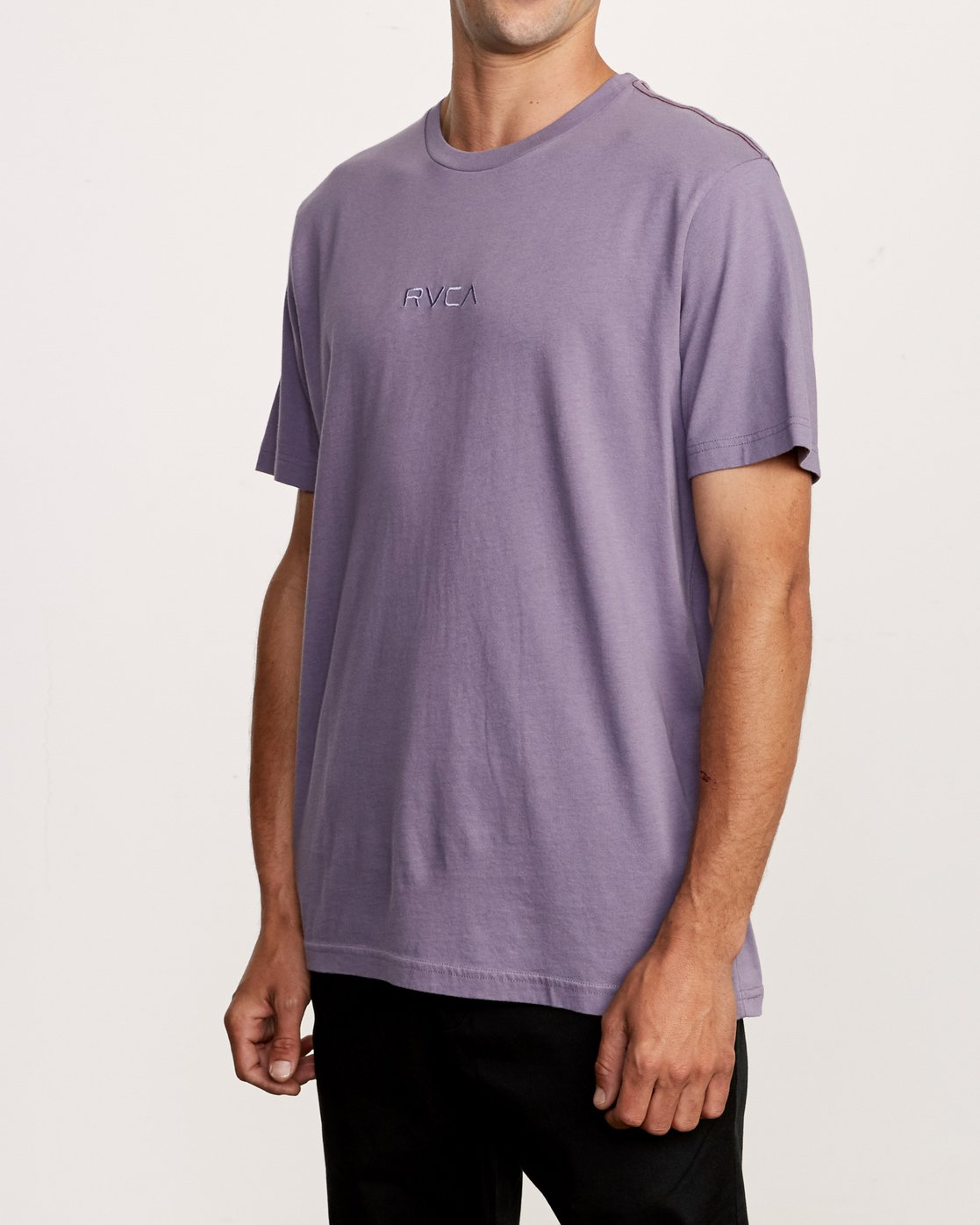 2 Small RVCA Embroidered T-Shirt Purple M430VRSM RVCA