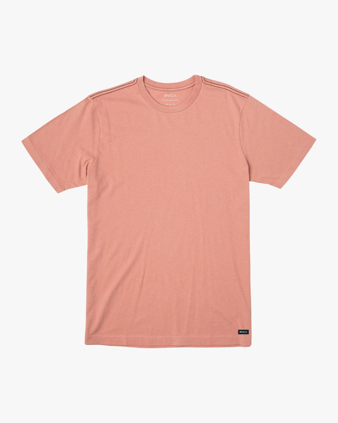 0 Solo Label T-Shirt Pink M430VRSO RVCA
