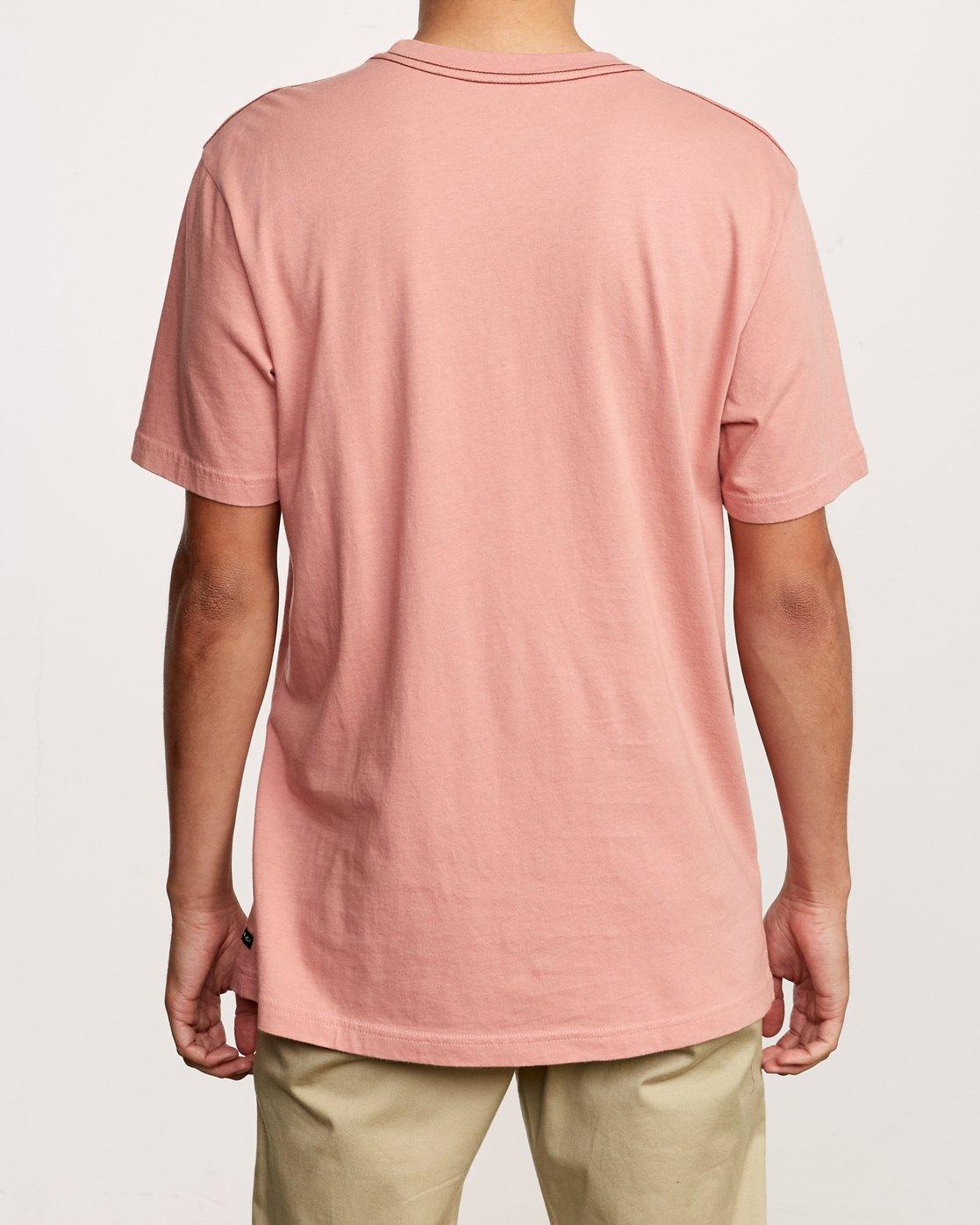 3 Solo Label T-Shirt Pink M430VRSO RVCA