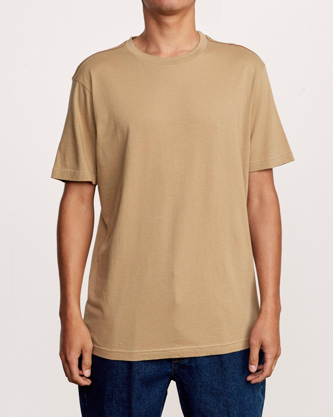 1 Solo Label T-Shirt Yellow M430VRSO RVCA