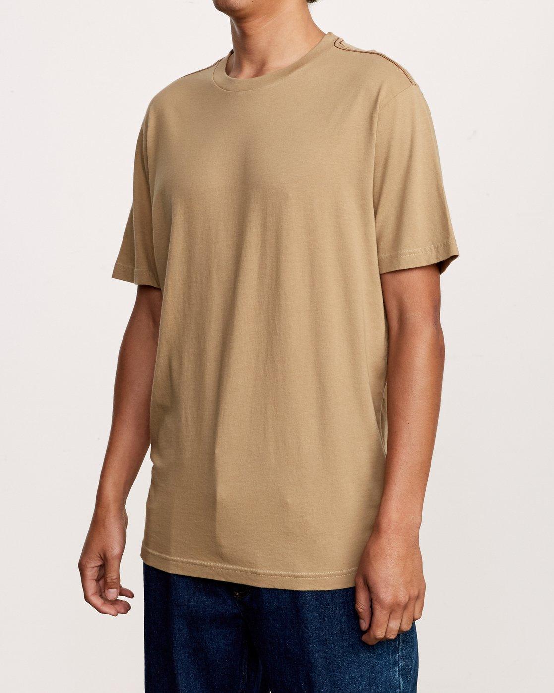 2 Solo Label T-Shirt Yellow M430VRSO RVCA