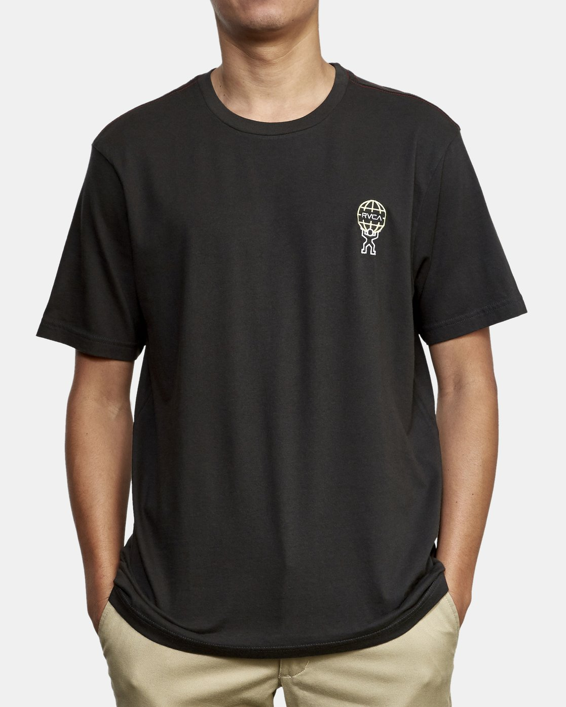 2 Atlast T-Shirt Black M430WRAT RVCA