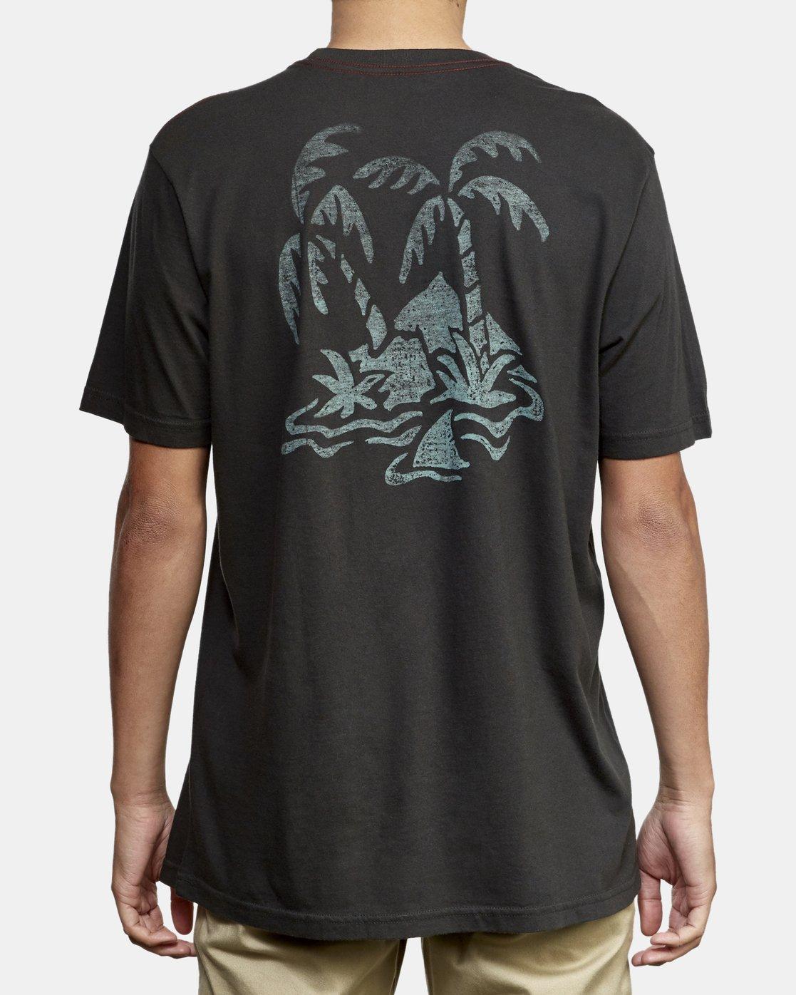 4 Castaway T-Shirt Black M430WRCA RVCA