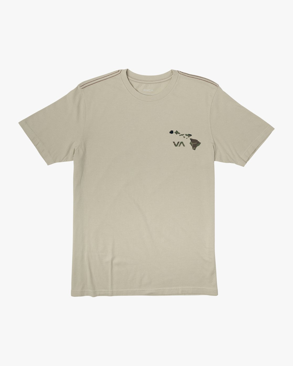 1 Island Hex Fill T-Shirt Silver M430WRIS RVCA