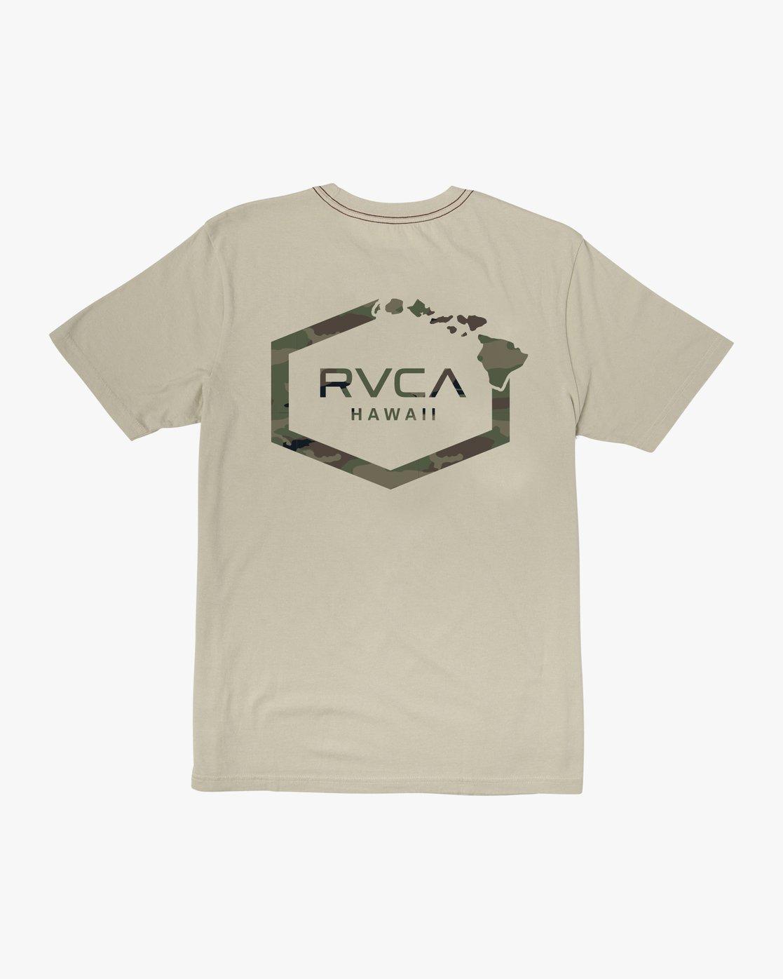 0 Island Hex Fill T-Shirt Silver M430WRIS RVCA