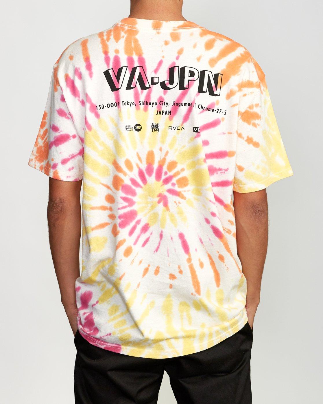 4 Japan Block Tie-Dye T-Shirt White M431VRJB RVCA