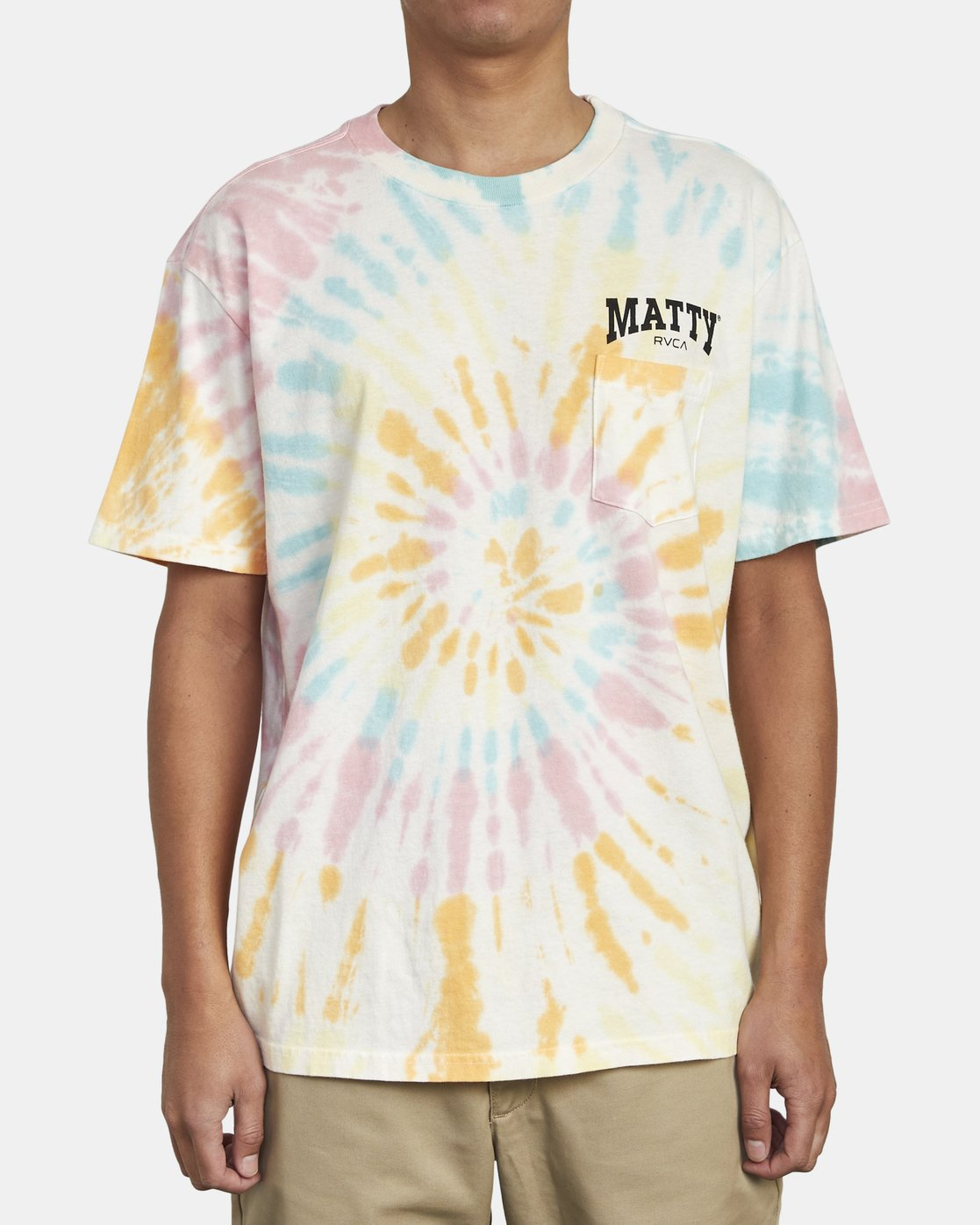 2 MATTY'S TIE DYE TEE  M431WRET RVCA
