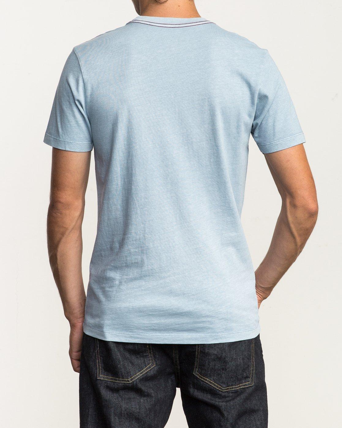 3 Unleaded T-Shirt Blue M432SRUN RVCA