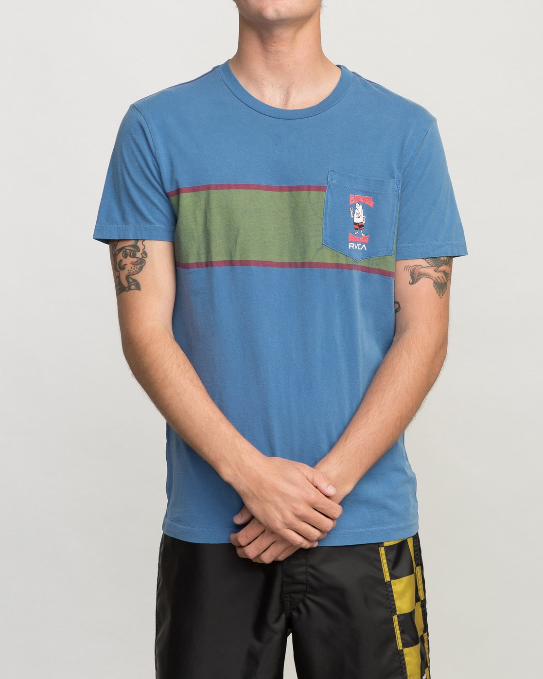 1 Birdwell Side Runner Pocket T-Shirt Blue M433PRSR RVCA