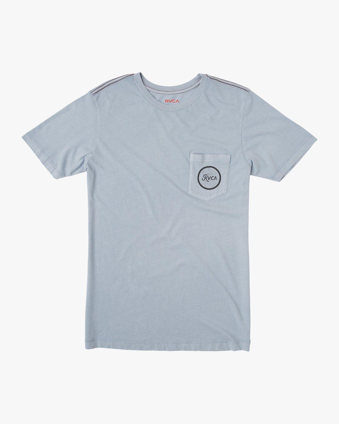 1 Faces Pocket T-Shirt Blue M433SRFA RVCA