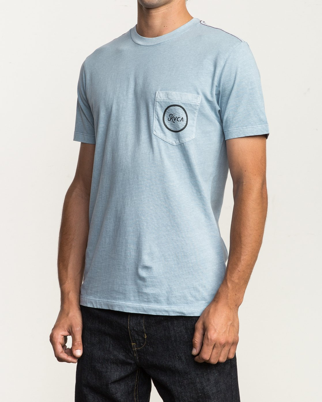 3 Faces Pocket T-Shirt Blue M433SRFA RVCA