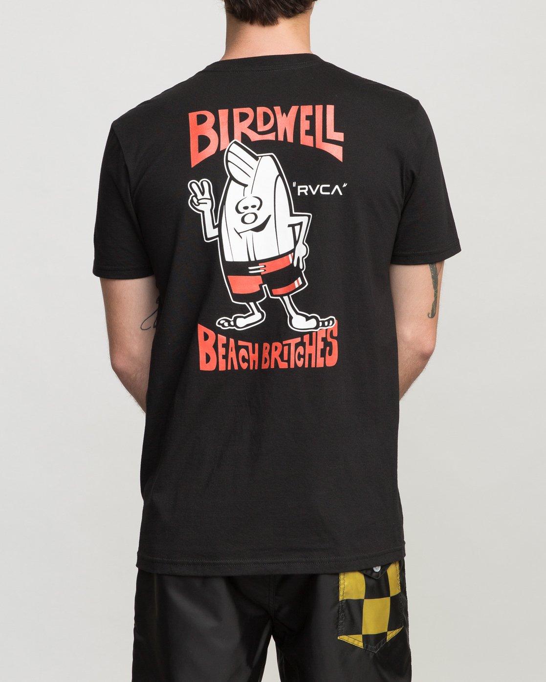 4 Birdwell Collab 01 T-Shirt Black M434PRCL RVCA