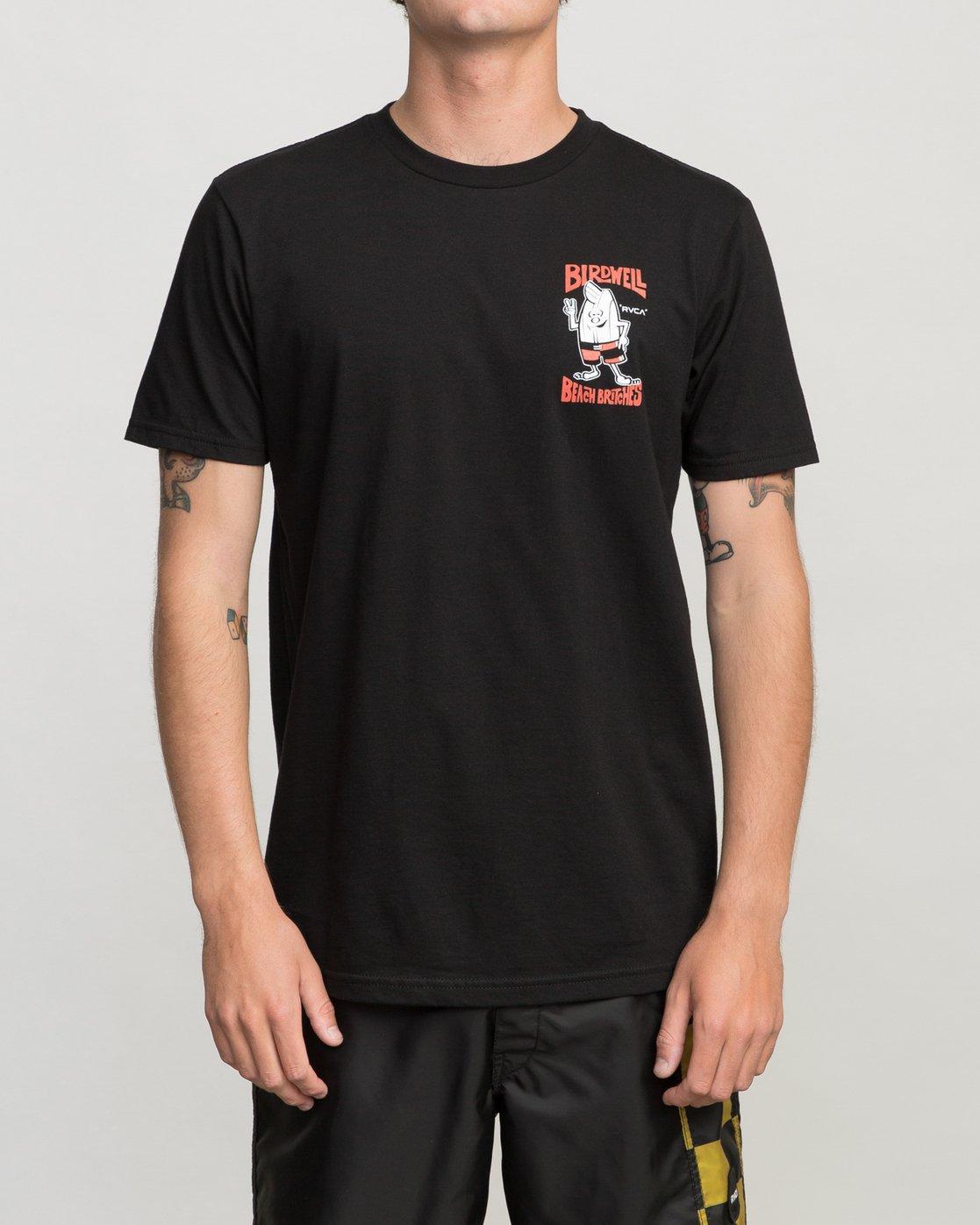 2 Birdwell Collab 01 T-Shirt Black M434PRCL RVCA