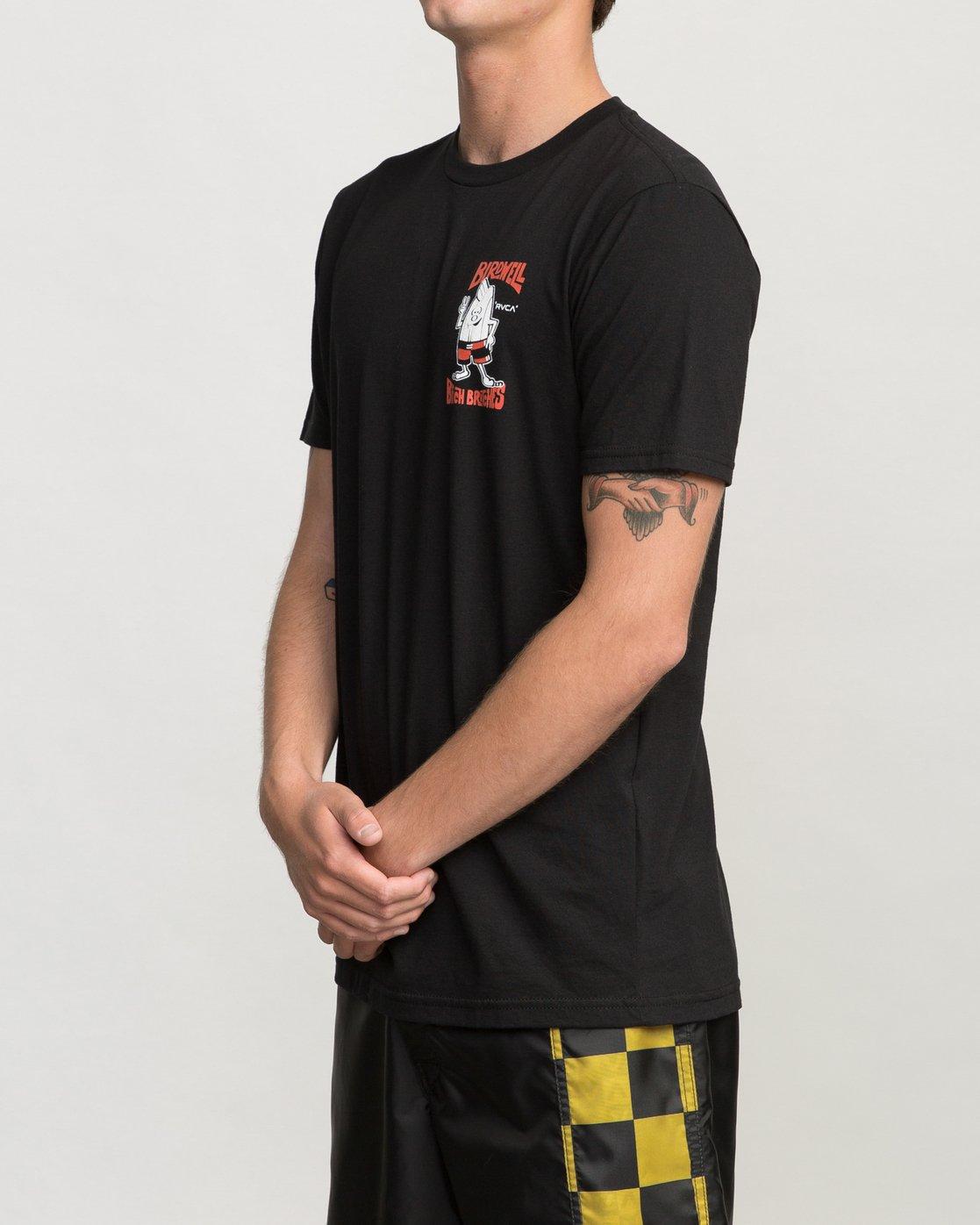 3 Birdwell Collab 01 T-Shirt Black M434PRCL RVCA