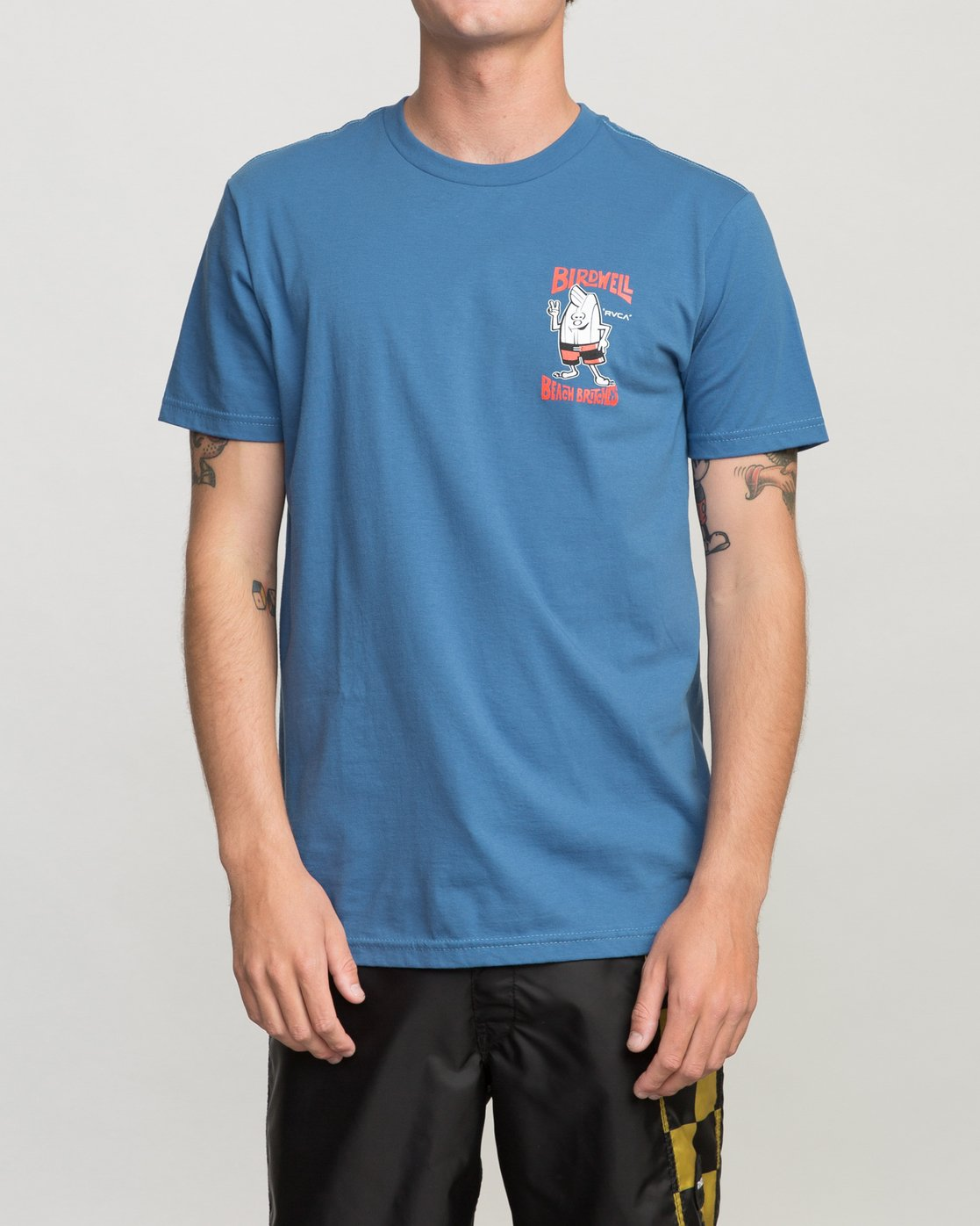 2 Birdwell Collab 01 T-Shirt Blue M434PRCL RVCA