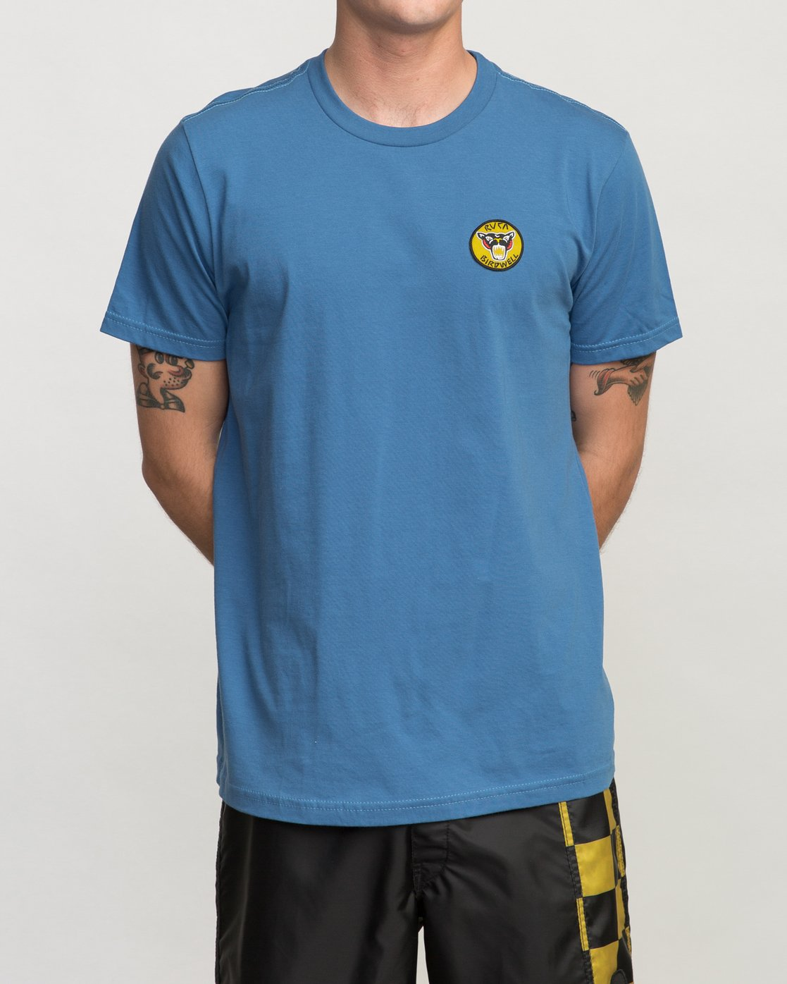 1 Birdwell PM NK Patch T-Shirt Blue M434PRPK RVCA