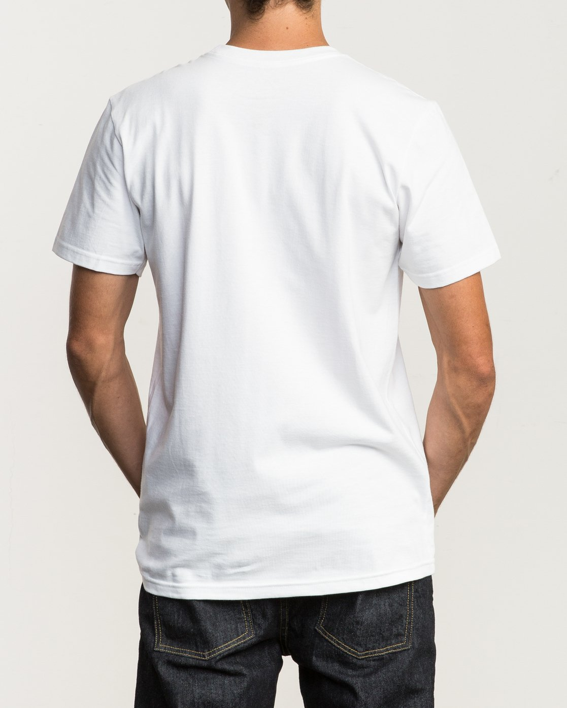 3 Dropped In TEE White M434SRDR RVCA