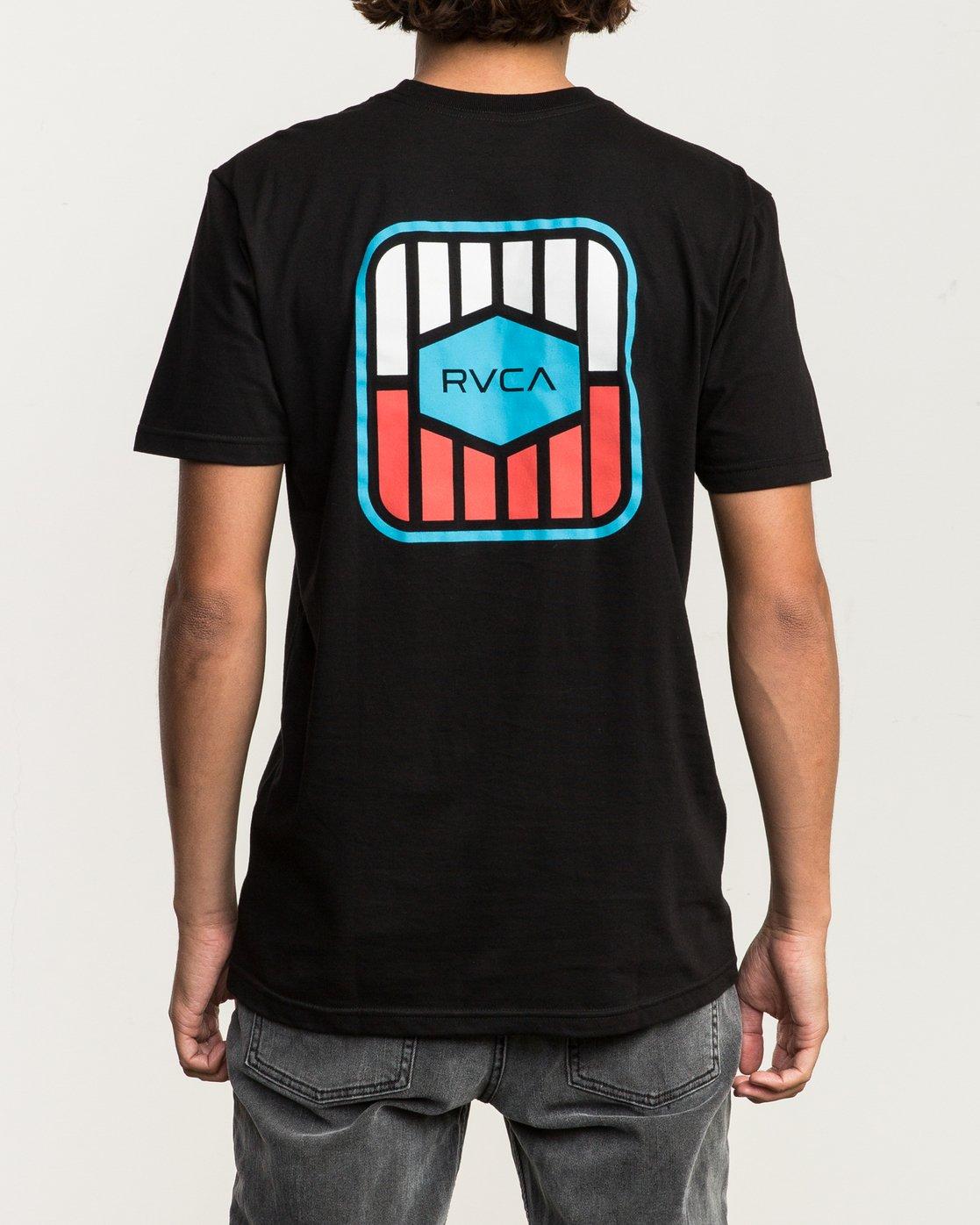 4 Milton T-Shirt Black M434SRMI RVCA