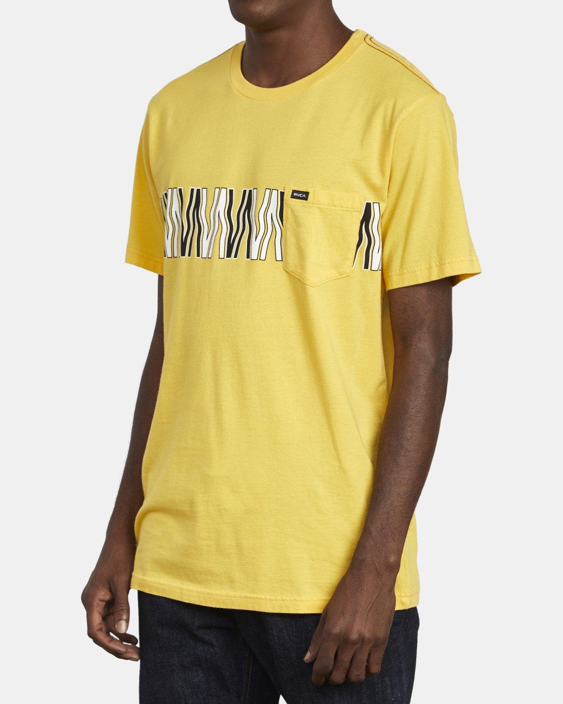 4 VA FLOW TEE Yellow M4361RFL RVCA