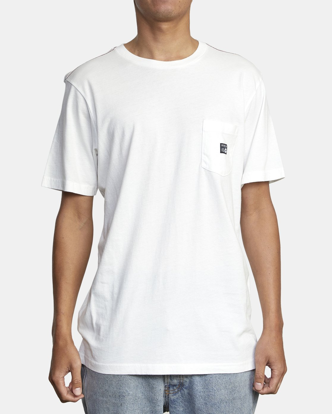 1 ANP POCKET SHORT SLEEVE TEE White M4362RAN RVCA