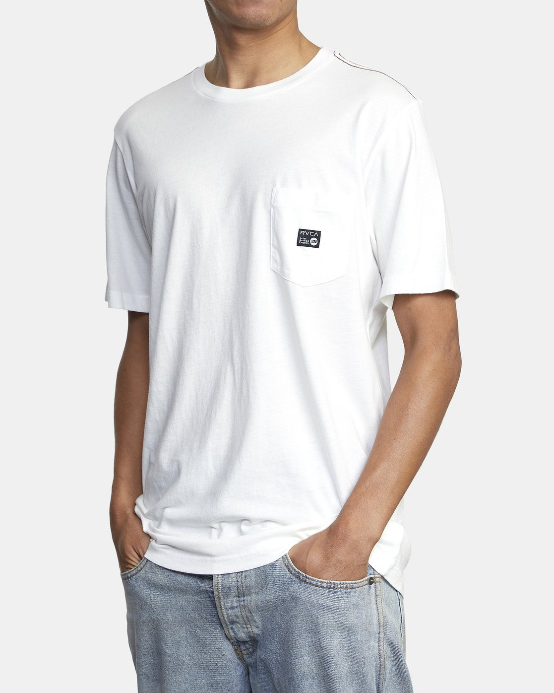 2 ANP POCKET SHORT SLEEVE TEE White M4362RAN RVCA