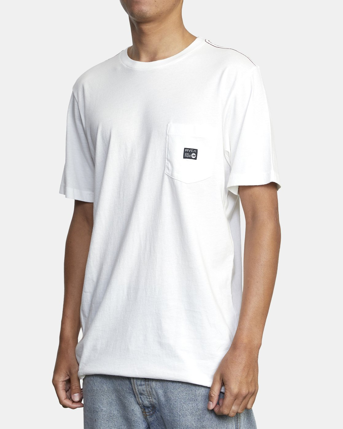 3 ANP POCKET SHORT SLEEVE TEE White M4362RAN RVCA