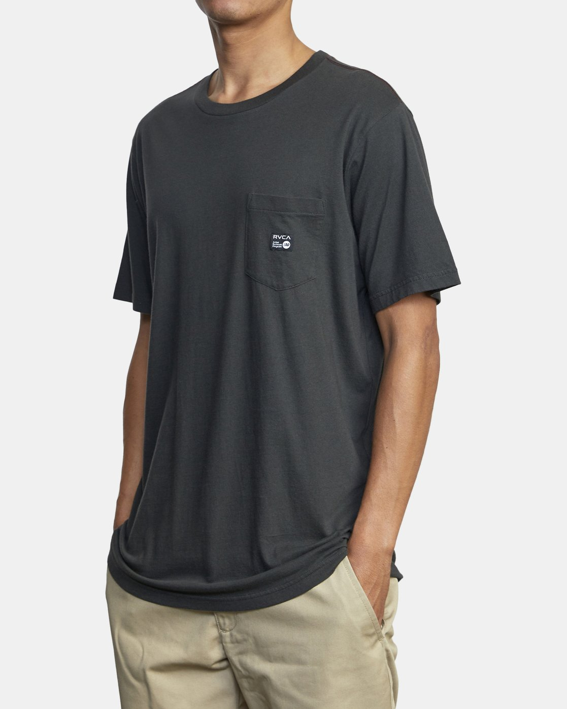 2 ANP POCKET SHORT SLEEVE TEE Black M4362RAN RVCA