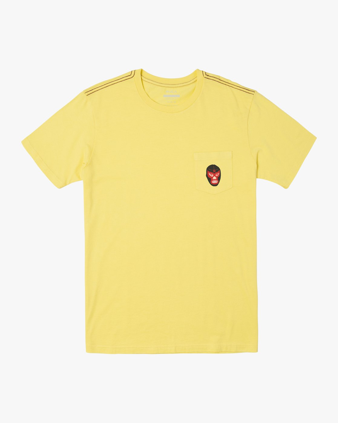 0 LUCHADOR SHORT SLEEVE T-SHIRT Yellow M4362RLU RVCA